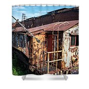 Train 6 In Color Shower Curtain