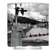 Train A Comin Shower Curtain
