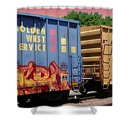 Train Aglow Shower Curtain