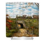 Train - Arlington Nj - Enjoying The Autumn Day - 1890 Shower Curtain
