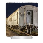 Train Car And Tracks Shower Curtain