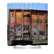 Train Car Graffiti 1 Shower Curtain
