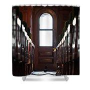 Train Car Interior Shower Curtain