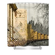 Train Cars Selective Color Shower Curtain