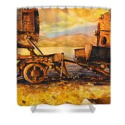 Train Cemetary- Salar De Uyuni, Bolivia Shower Curtain