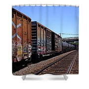 Train Colors 1 Shower Curtain