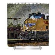 Train Coming Through Shower Curtain