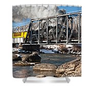 Train Crossing Shower Curtain