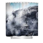 Train Engine 463 Shower Curtain