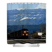 Train Entering Truckee California Shower Curtain