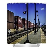 Train From Chicago Shower Curtain