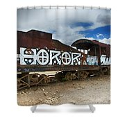 Train Graveyard Uyuni Bolivia 13 Shower Curtain