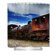 Train Graveyard Uyuni Bolivia 15 Shower Curtain