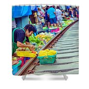 Train Market 2323 Shower Curtain
