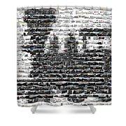Train Mosaic Shower Curtain