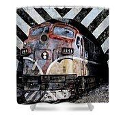 Train Mural Shower Curtain
