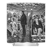 Train: Passenger Car, 1876 Shower Curtain