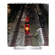 Train Set Shower Curtain