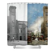 Train Station - Look Out For The Train 1910 - Side By Side Shower Curtain