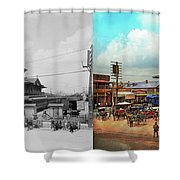 Train Station - Louisville And Nashville Railroad 1912- Side By Shower Curtain