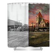 Train Station - Ny Central Railroad Depot 1905 - Side By Side Shower Curtain
