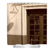 Train Station Of The 40s  Shower Curtain