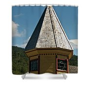 Train Station Spire Shower Curtain