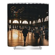 Train Station Sunset Shower Curtain