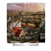 Train Station - Wuppertal Suspension Railway 1913 Shower Curtain