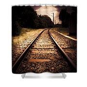 Train Tour Of Darkness Shower Curtain