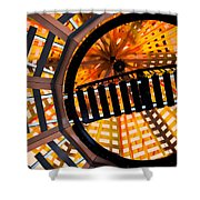 Train Track Abstract Shower Curtain