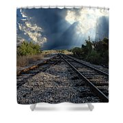 Train Track Junction In Charleston Sc Shower Curtain