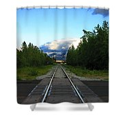 Train Tracks Anchorage Alaska Shower Curtain