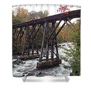Train Tracks Over The Winnipesaukee River Shower Curtain