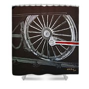 Train Wheels 2 Shower Curtain