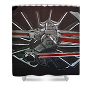 Train Wheels 3 Shower Curtain