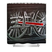 Train Wheels 4 Shower Curtain