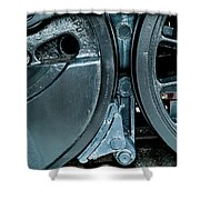 Train Wheels Shower Curtain