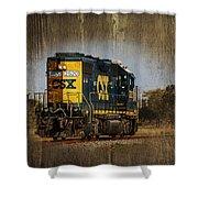 Train Yard 2 Shower Curtain