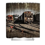 Train Yard Shower Curtain