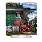 Train - Yard - The Train Station Shower Curtain by Mike Savad