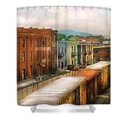 Train - Yard - Train Town Shower Curtain
