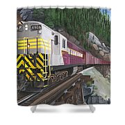 Trainmaster At Myra Shower Curtain