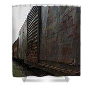 Trains 12 Autochrome Shower Curtain