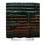 Trains 13 Vign Shower Curtain