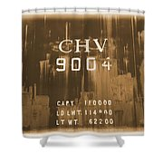 Trains 14 Albumen Border Shower Curtain