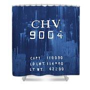 Trains 14 Cyanotype Shower Curtain