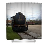 Trains 3 Vign Shower Curtain