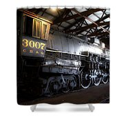 Trains 3007 C B Q Steam Engine Shower Curtain