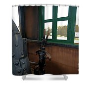 Trains 5 Org Shower Curtain